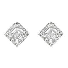 Betteridge Asscher Diamond Stud Earrings (6.02 ct tw)