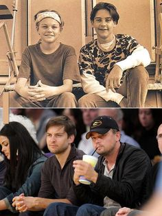 Leonardo Di Caprio and Tobey Maguire-teenagers - awww!