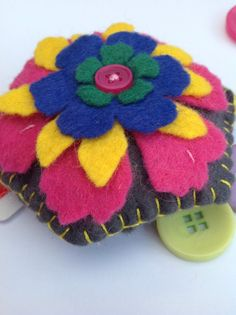 This item is unavailable True Colors, Colours, Felt Pincushions, Blanket Stitch, Hexagon Shape, Sewing Accessories, Tim Holtz, Felt Flowers, Pin Cushions