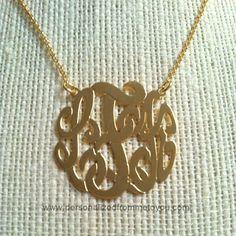 Cut Out Monogram Necklace