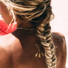 Fishtail at the beach, for when I decide to grow my hair long again