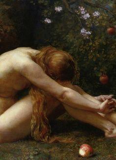 Eve (detail) by Anna Lea Merritt, 1885