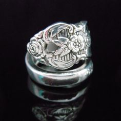 Spoon Ring Flower  Distinction  Repurposed by MarchelloArt on Etsy, $19.99