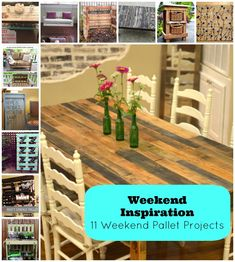 Weekend Inspiration: 11 Weekend Pallet Projects