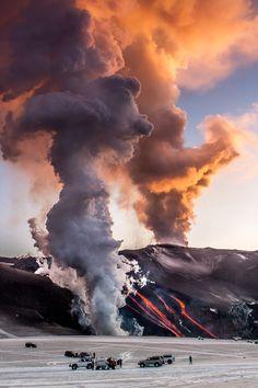 Eyjafjalljokull, Iceland. Photography by  PiotrHi