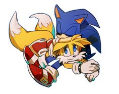 Sonic: *teasing* I found a pillow. Tails: XD [BF by lujji on deviantART]