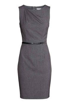Robe ajustée grise avec drapé | H&M