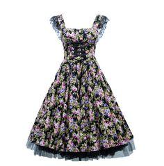 ROBE FLEURS LAÇAGE CORSET - T42/44 15% de réduction 1 modèle = 1 prix réduit -  Disponible ! Livraison 48/72h http://www.venus-mode.com/robes-florales/630-robe-fleurs-lacage-corset-t4244.html
