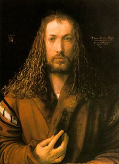 Albrecht Durer, Self Portrait as Christ Grad school arguments about hottest men in art frequently cited this painting. The fact that this is a self-portrait as Christ stopped nobody