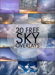 Free Sky Overlays to download Easily Replace grey, boring skies Get the Magic Sky Action set to click a button to replace a sky (for Photoshop) 20 Free Skies Download Free Skies