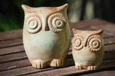 Ceramic owl and owlet