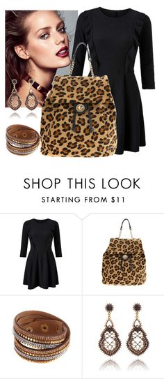 """""""leopard backpack"""" by nanouyia on Polyvore featuring Miss Selfridge"""