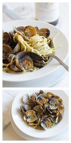 Linguine alle Vongole recipe. Crazy delicious Italian pasta with clams with white wine. Make it at home at a fraction of the cost at restaurants | rasamalaysia.com