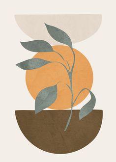 Tree Branch Art Print by flowline Minimalist Art, Minimalist Painting, Tree Branch Art, Tree Branches, Illustration Art, Illustrations, Arte Floral, Pebble Art, Oeuvre D'art