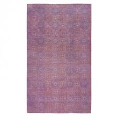 Color Reform Spectrum Overdyed Rug - 13 3 x19 4 Soft lavender hues highlights the exotic motifs in this one-of-a-kind wool rug, intricately handwoven in Pakistan using centuries-old techniques.