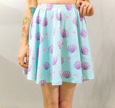 Sea Squish Mermaid Shell Skater Skirt