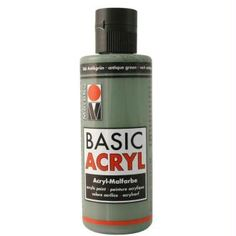 Acrylique Basic Acryl vert antique 80 ml Vodka Bottle, Centre, Diy, Image Transfers, Modeling Paste, Paint Colours, Bricolage, Diys, Handyman Projects