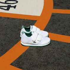 Hit the playground in style with our Marcel sneakers just for kids this #sunday! #lacoste #covetme