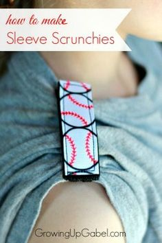 """Make personalized """"sleeve scrunchies"""" with this easy sewing tutorial made with Velcro and ribbon. Great for summer sports and athletes to stay cool!"""