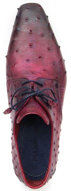 PAUL PARKMAN LILAC GENUINE OSTRICH DERBY SHOES FOR MEN Website : www.paulparkman.com