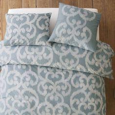 Organic Ikat Scroll Duvet Cover + Shams | west elm