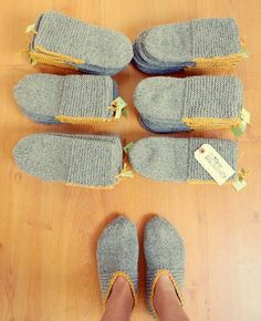 "Someone pinned this photo on Pinterest (it linked to a store selling these ""slippers"" knitted by Lithuanian knitters):       I Can Do That! ..."