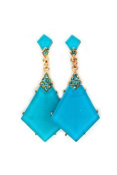 Crystal Elizabeth Earrings in Turquoise