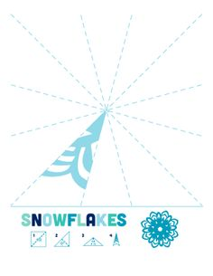 Cutout snowflake made simple. Print and cut out the template. #DIY