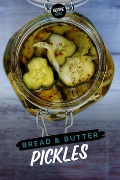Bread and Butter Pickles recipe from RecipeGirl.com #bread #butter #pickles #recipe #RecipeGirl Bread N Butter Pickle Recipe, Bread & Butter Pickles, Butter Recipe, Chutney, Homemade Pickles, Pickles Recipe, Great Recipes, Favorite Recipes, Recipes Dinner