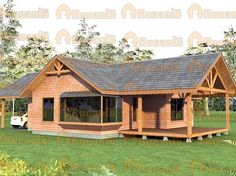 Rest House, House In The Woods, Small Modern House Plans, Village House Design, House On Stilts, Bamboo House, Prefabricated Houses, Timber House, Cabins And Cottages