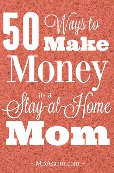 There are so many great ways to make money as a stay-at-home mom. This list is full of opportunities that will let you be with your kids AND earn some money. Good luck!