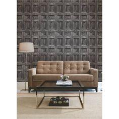 Buy Fine Decor Wood Panel Wallpaper Silver / Charcoal / Grey