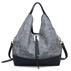 Moda Luxe Scout Hobo Handbag Black >>> To view further for this item, visit the image link.