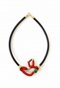 Lust list: Asia major - Houston Chronicle MIXED MEDIA Local jewelry designer Katy Briscoe has created this 18-karat gold, diamond, emerald and coral branch necklace; price upon request at Saks Fifth Avenue. Photo: Katy Briscoe