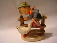 Vintage Goebel Hummel Barnyard Hero boy and goose figurine