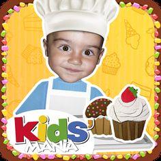 My Little Cook - Les gâteaux (Android - IOS) Apprendre de nouvelles recettes de gâteaux virtuellement, avant de les réaliser concrètement.