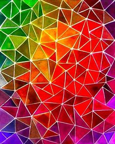 Great color, interesting use of triangles.