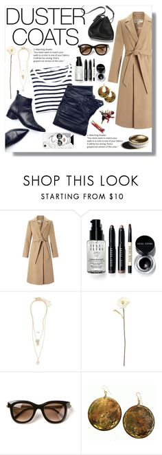 """""""Long Layers: Duster Coats"""" by nadia-gadelmawla ❤ liked on Polyvore featuring Miss Selfridge, 3.1 Phillip Lim, Bobbi Brown Cosmetics, Topshop, Shabby Chic, Thierry Lasry, Robyn Rhodes, Garance Doré and Casetify"""