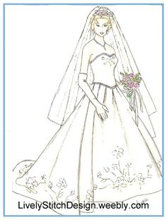 """A Classic Wedding / sewing pattern for the 21"""" Modern Cissy by Madame Alexander"""