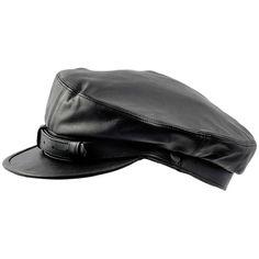 Genuine leather Fiddler Maciejowka black cap. Gatsby by HatterShop, $35.00