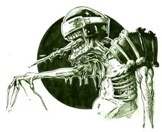 Judge Death inks. by brewsterart.deviantart.com on @DeviantArt