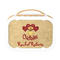 Chickadee Lunch Boxes #zazzle #lunchbox #chick