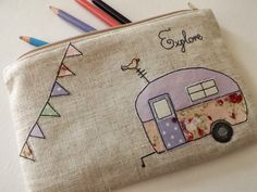 Pretty Vintage Caravan Applique