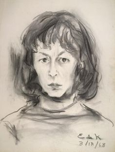 Elaine de Kooning, Self-Portrait, Courtesy of the National Portrait Gallery, Smithsonian Institution; the Ruth Bowman and Harry Kahn Twentieth-Century American Self-Portrait Collection, ©Elaine de Kooning Trust. Willem De Kooning, Elaine De Kooning, Self Portrait Drawing, Selfies, Digital Museum, National Portrait Gallery, Art Graphique, Famous Artists, New Art