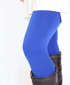 Look at this Caralase Royal Fleece-Lined High-Waist Leggings on #zulily today!