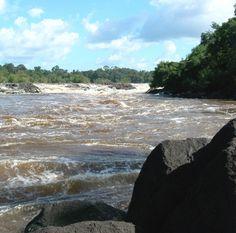 Ralleigh Waterval (rapids), Boven Coppename, Suriname