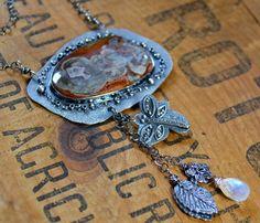 Deep Secrets Stone Sterling Necklace One of a Kind by joykruse, $268.00