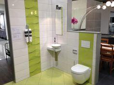 Kleines-badezimmer Gestalten Glasdusche Farben Ideen Gelbe Fliesen ... Badfliesen Modern Hell