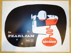 Pearl Jam 2003 - Santa Barbara Silkscreen Concert Poster by Ames - One of my all time favorites