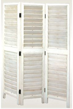 Viennese Louvre Screen in White (shabby chic?)  54W x 72H 488